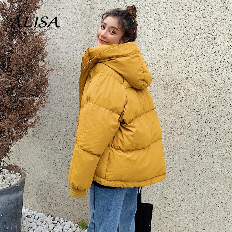 Short Parkas Women Warm Puffer Jacket New 2021 Fashion Hooded Warm Thicken Black Cotton Padded Coat