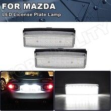 Lumières de xénon blanches, sans erreur, pour Mazda Miata MX5, plaque dimmatriculation LED, 2006, 2007, 2008, 2009, 2010, 2011, 2012, 2013, 2 pièces