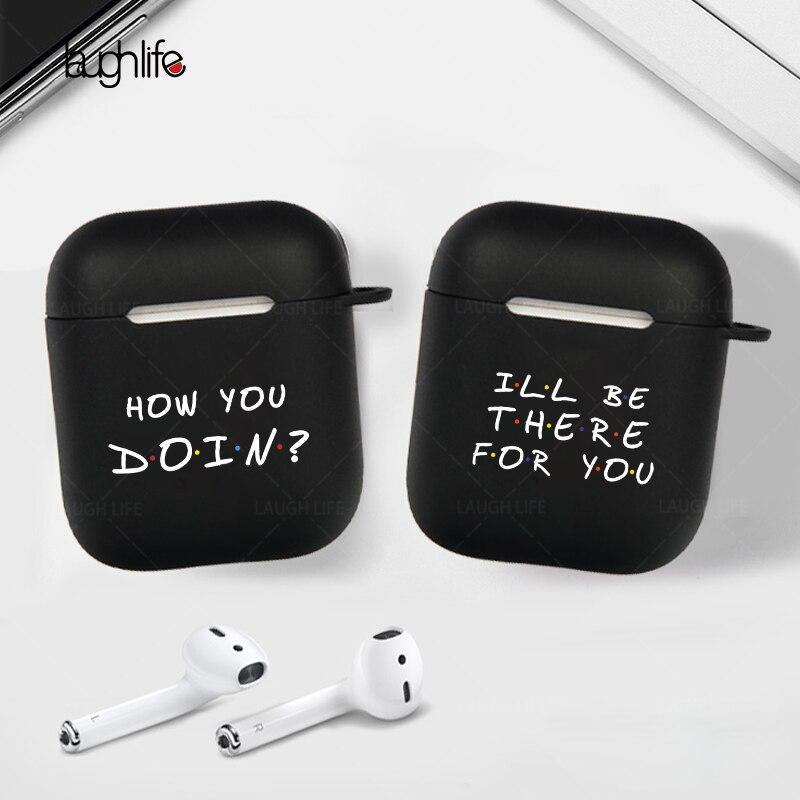 Estuche de auriculares para Apple Air pods 2, caja de carga para AirPods 2 1, funda protectora negra dura, accesorios