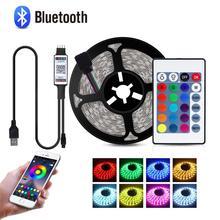 LED USB Bluetooth LED Licht Dimmbar TV Led Streifen Fernbedienung Usb Power App Control Musik Bluetooth Flexible RGB Lichter USB LED Lampe