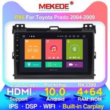 "4G+64G 9"" 2din Android 10.0 Car DVD Player for Toyota Land Cruiser Prado 120 2004-2009 Car Radio GPS Navigation WIFI Player"