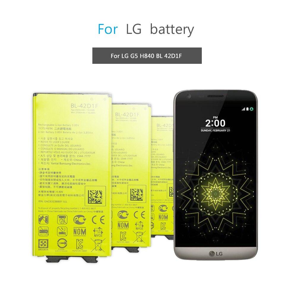 BL-42D1F аккумулятор для мобильного телефона LG G5 BL-42D1F H850 H820 H830 H831 H840 H868 H860N H860 LS992 US992 2800mAh BL42D1F BL 42DIF