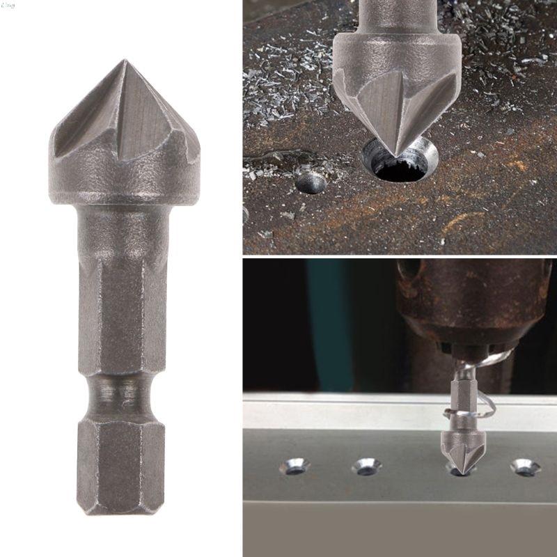 Punta da trapano svasatore a 6 taglienti utensile per la lavorazione del legno da taglio con angolo di 90 gradi