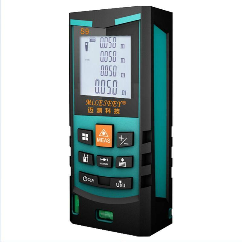 Laser Metre Electronic Measurement Instruments  S9 50M Laser Distance Meter Rangefinder Measuring Blue From Mileseey