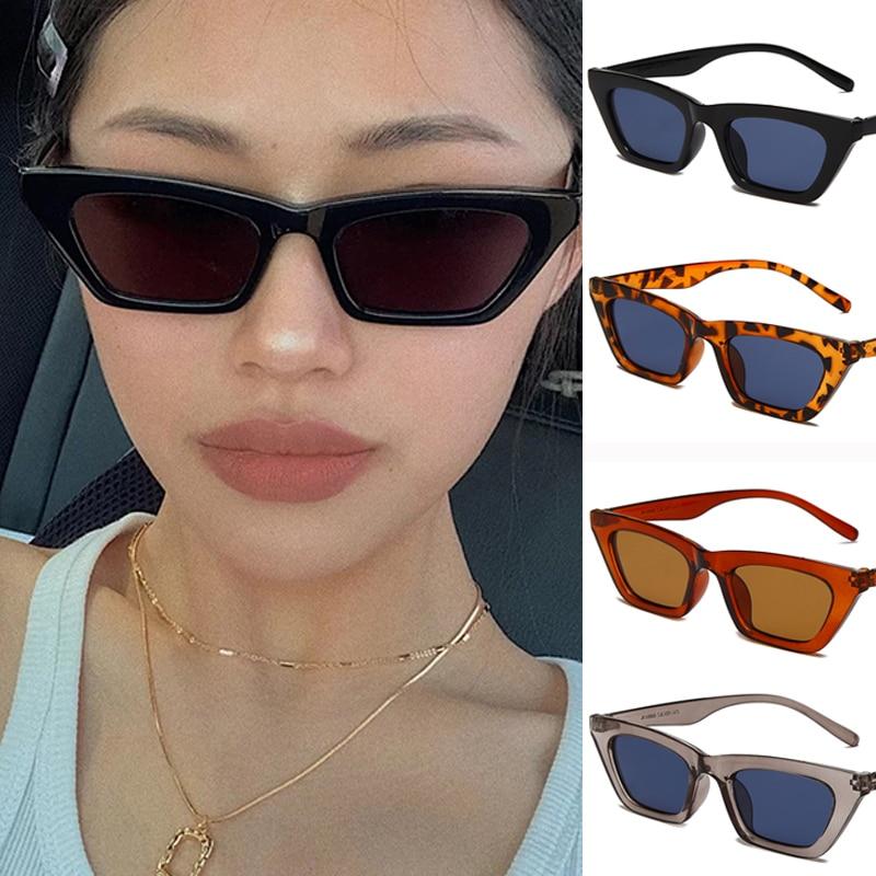 Top Quality Cat Eye SunGlasses for Women Men Small Frame Sun Glasses Brand Designer Shades for Femal