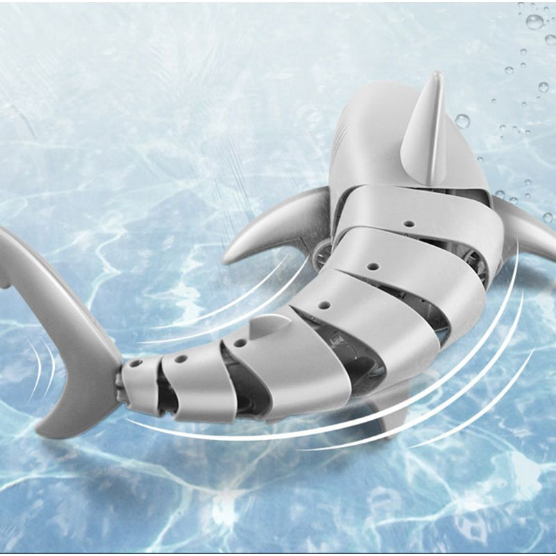 C5AA Remote Control Shark 2.4G Electric Simulation RC Fish Racing Boat Water Kids Toy