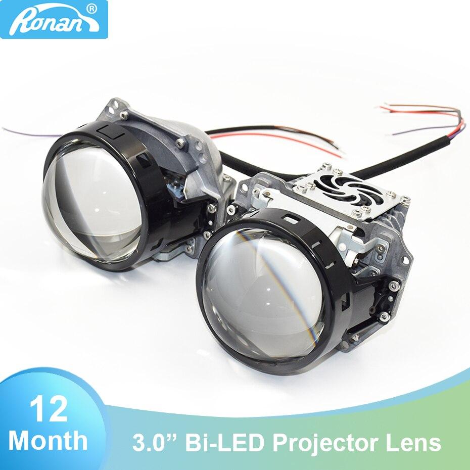 Ronan 2 uds 3,0 bi lentes de proyector led 6000K 34W 38W 3200lm para HL 3r 5 universal coche faro actualización instalación diy