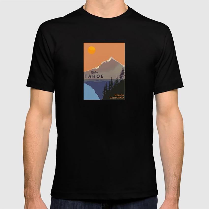 Lago Tahoe. Camiseta Tahoe Lake Tahoe California, Sierra Nevada, ciudad, Nevada, Squaw Valley, arena Harbor, California, vacaciones
