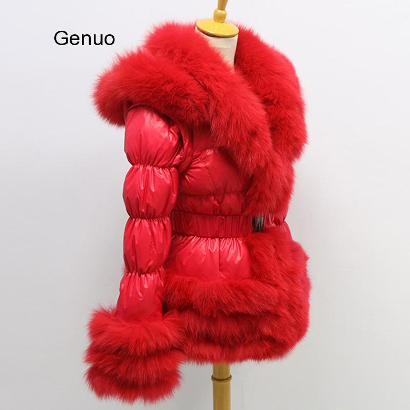 2018 new kids baby girl boy 2 4y outwear fur hooded coat ski snow suit jacket bib pants overalls 30 degree down clothes Winter Jacket Women Furry Faux Fur Collar White Duck Down Abrigos Mujer Windproof Hooded Coat New Outwear Femme