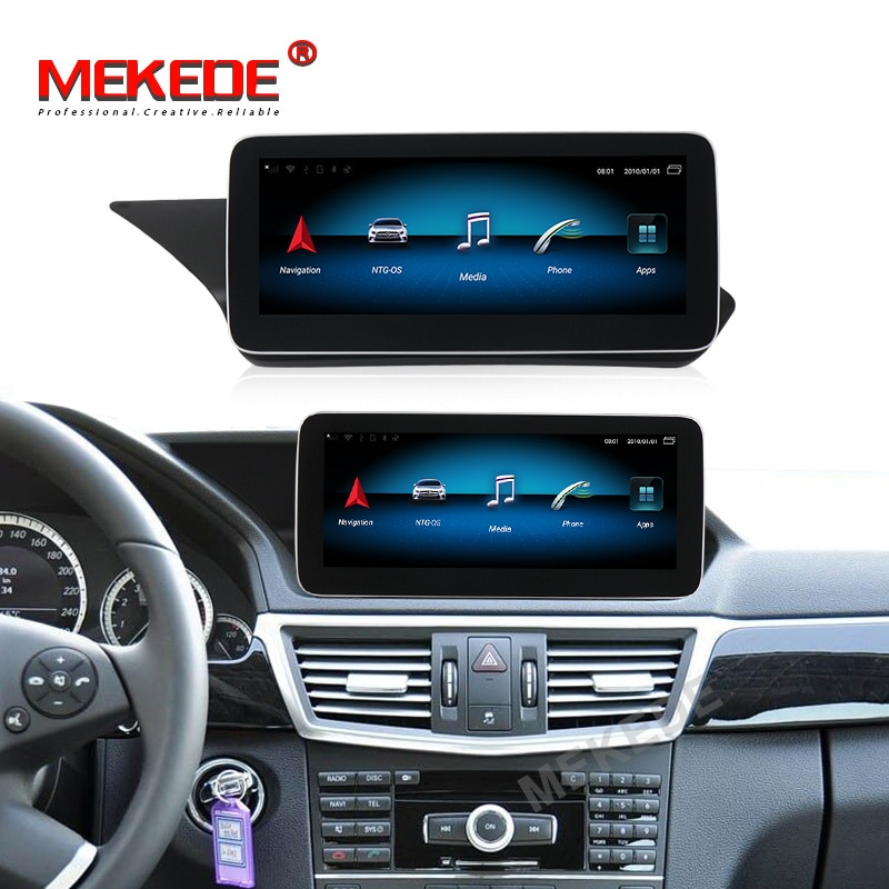 Blu-ray anti-glare screen!12.5inch 4G plus android 9.0 car multimedia GPS radio for Mercedes benz E Class W212 2009-2015 4G+64G