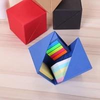 square solid color boxed note paper cover school student desk stationery multi style combination index label sticker memo