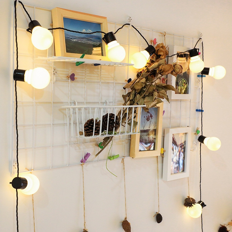 220v/110v светильник лампа гирлянда на открытом воздухе гирлянда уличный светодиодный G50 лампы солнечной энергии Строка светильник как Рождест...