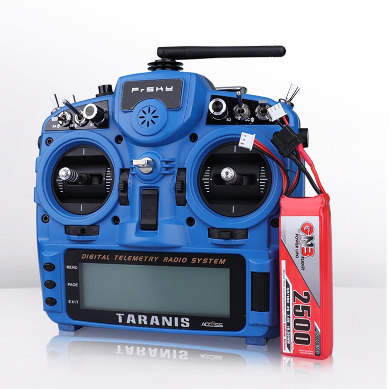 Gaoneng GB 2500MAH 2S 7,4 V 5C Lipo batería para Flysky Futaba 2019 integrado Frsky Taranis X9D Plus transmisor controlador remoto