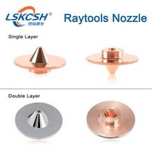 LSKCSH الليزر فوهة طبقة واحدة/مزدوجة طبقات Dia.32mm عيار 1.0-3.0 مللي متر fo raytools الليزر BT240S/BM114 /BT260 بالجملة