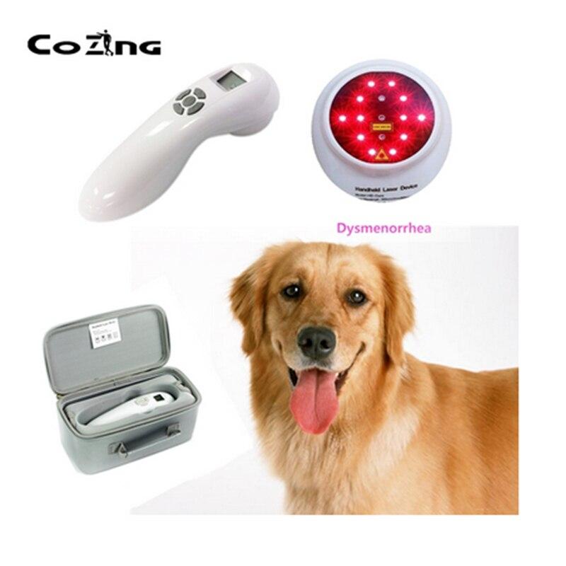 جهاز ليزر أحمر محمول لتخفيف آلام الكلاب ، جهاز محمول للعلاج الطبيعي لتخفيف آلام الحيوانات والإنسان