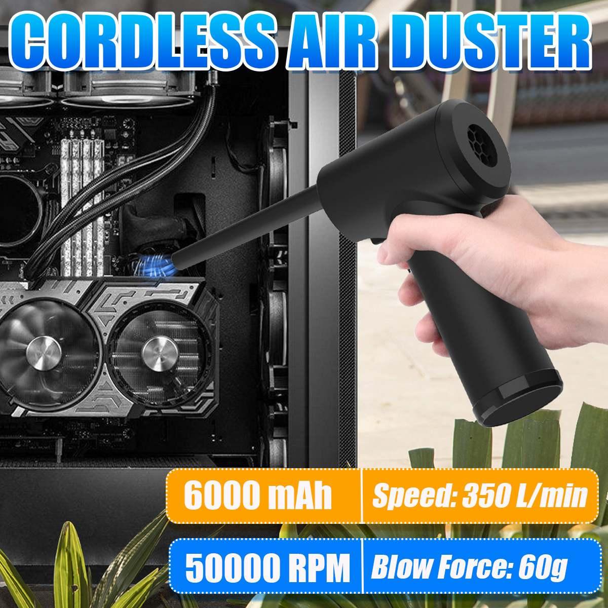 50000 RPM اللاسلكي منظف بالهواء المضغوط منفاخ الهواء مكنسة كهربائية لأجهزة الكمبيوتر المحمول لوحة المفاتيح إلكترونيات تنظيف للكاميرا