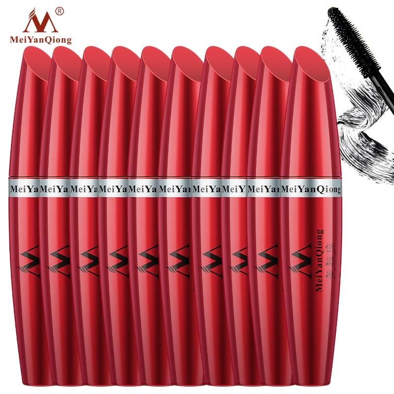 10 Uds. Mascara MeiYanQiong potente crecimiento de pestañas Natural rizado cuidado de las pestañas hacen que sea largo y negro y hermoso