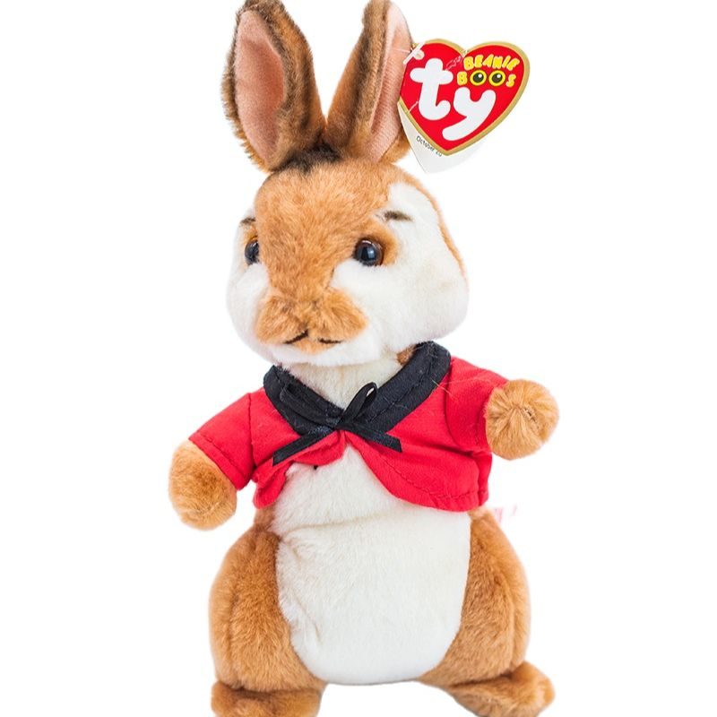 New 6 ''15cm Ty Beanie Stuffed Plush Animals Doll Peter Rabbit Collectible Big Eye bunny Soft Toys Christmas Gift