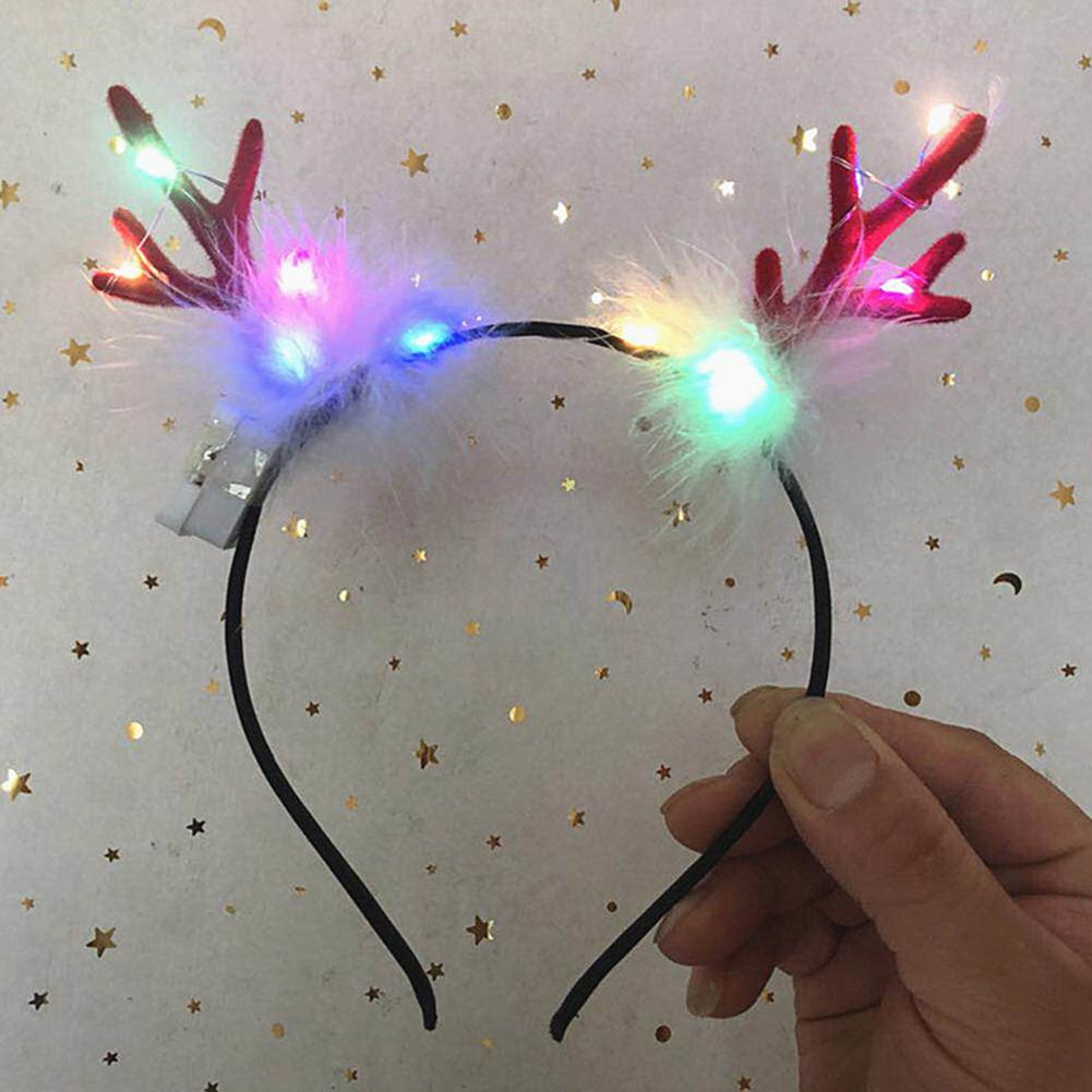 Neon Party LED Light Rabbit Cat Lace Ears Luminous Bunny Ears Headdress Glow Headband Party Led Bride Party Wedding Decoration