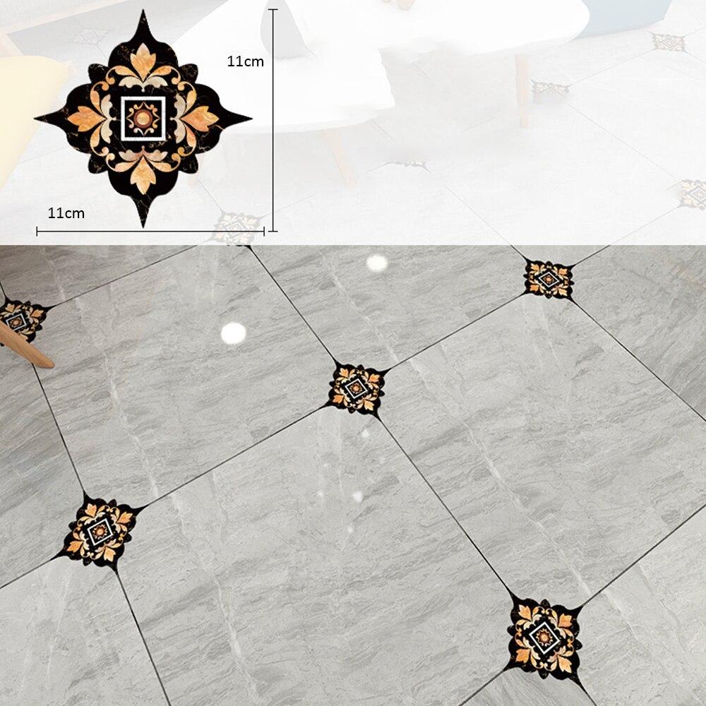 18 unids/set pegatinas autoadhesivas de PVC para azulejos de cerámica, pegatinas de pared impermeables, pegatinas de suelo en Diagonal, decoración de la Casa de la cocina