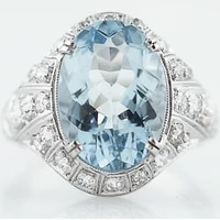 classic navy blue topaz ring womens fashion jewelry simple all matching womens ring