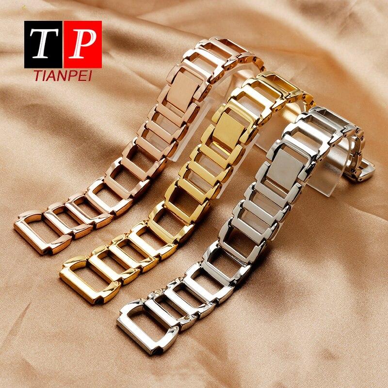 Nueva correa de reloj de acero fino de 16mm para correa de reloj CK K3G231/6 K2G231/6 K2Y2Y1/6, pulsera de acero inoxidable para mujer