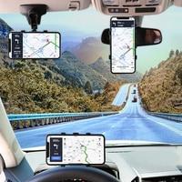 Автомобильный держатель для телефона 3 в 1 на приборную панель автомобиля, зеркало заднего вида с вращением на 360 градусов