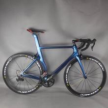 Color camaleónico completo camino carbono bicicleta de carretera marco con Grupo shi R7000 22 bicicleta de velocidad para carretera bicicleta completa