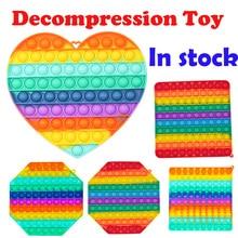 1PC Push Bubble Fidget Sensory Toy Autism Special Needs Stress Reliever brinquedos silicone autismo