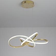 Chrome/or plaqué moderne pendentif LED lumières pour salle à manger cuisine salle pendentif LED lampe 90-260V