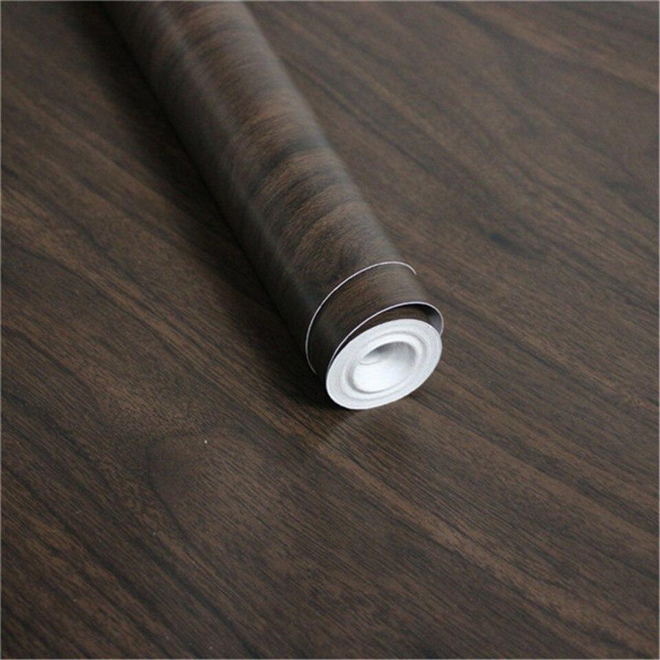 Adhesivos de pared de grano de madera para decoración de dormitorio, impermeable, a prueba de humedad, para cocina, escritorio, puerta, película decorativa, papel tapiz autoadhesivo de PVC