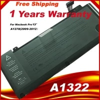 laptop battery a1322 for apple macbook pro 13 a1278 mid 2009 2010 2011 2012 laptop battery gift screwdrivers