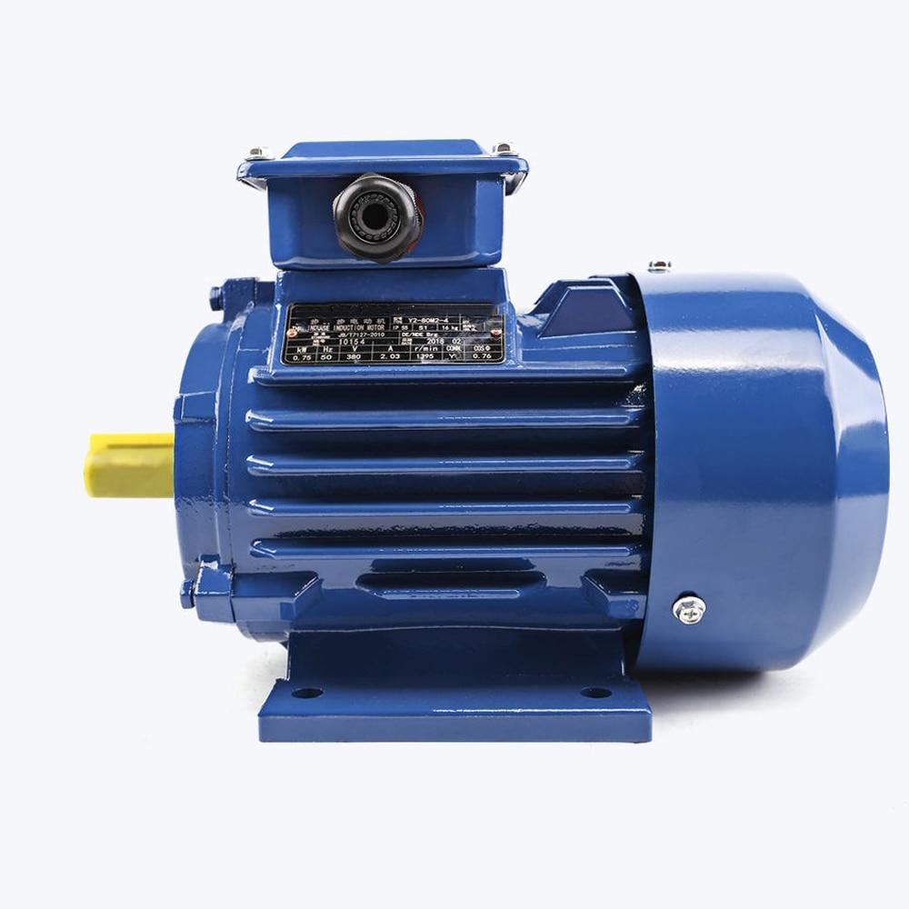 YE2 1.1kw 1100 واط 1.5hp التيار المتناوب التعريفي المحرك 3 المرحلة غير متزامن