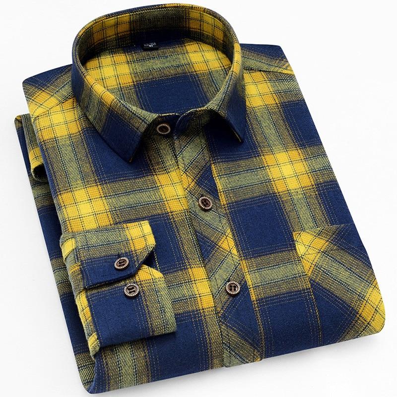 Мужская Фланелевая рубашка в клетку, Повседневная теплая мягкая рубашка с длинным рукавом, осень-весна 2021