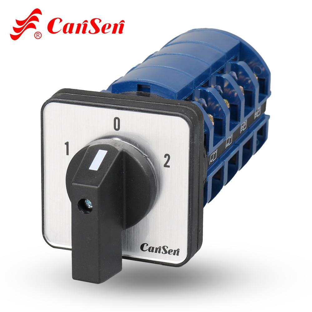 CANSEN LW26-63 C43 88*88 مللي متر 63A الروتاري كاميرا التبديل التحول التبديل 1-0-2 4P 16 محطات