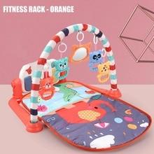 3 w 1 niemowlę mata ze stojakiem edukacyjnym Fitness pianino wisząca zabawka projektor wczesne Puzzle edukacyjne dywan dywan dla dzieci 76x56x43cm
