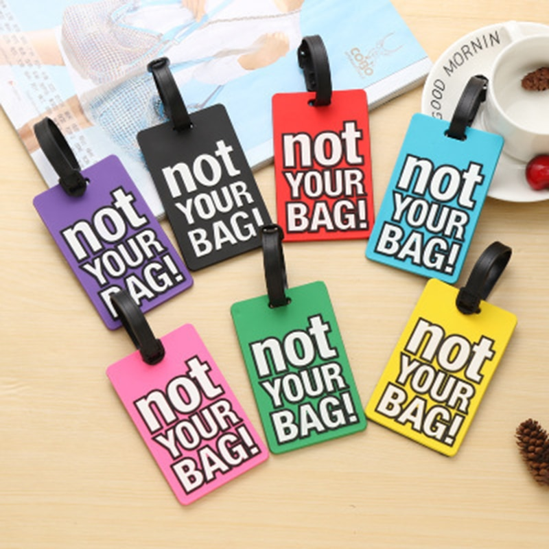 Creative Letter Not Your Bag Cute Travel Accessories Luggage Tags Suitcase Cartoon Style Fashion Sil
