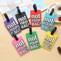 creative letter not your bag cute travel accessories luggage tags suitcase cartoon style fashion silicon portable travel label