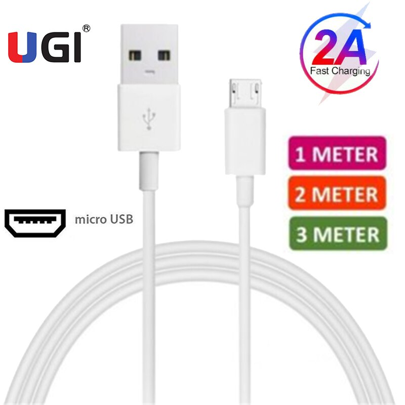 UGI-Cable de carga rápida 2A para Samsung, Huawei, Xiaomi, RedMi Oneplus, Cable...