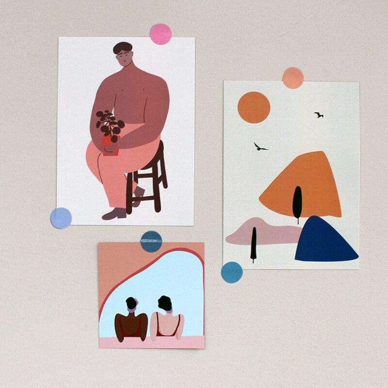 Скандинавская декоративная открытка, цветное украшение для стен, открытка, фото фон, реквизит, почтовая открытка, гостиная, спальня, настенн...