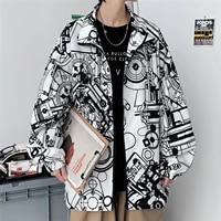2021 new autumn printed stand collar jacket mens fashion brand large size loose casual bf sports jacket jk07 p65