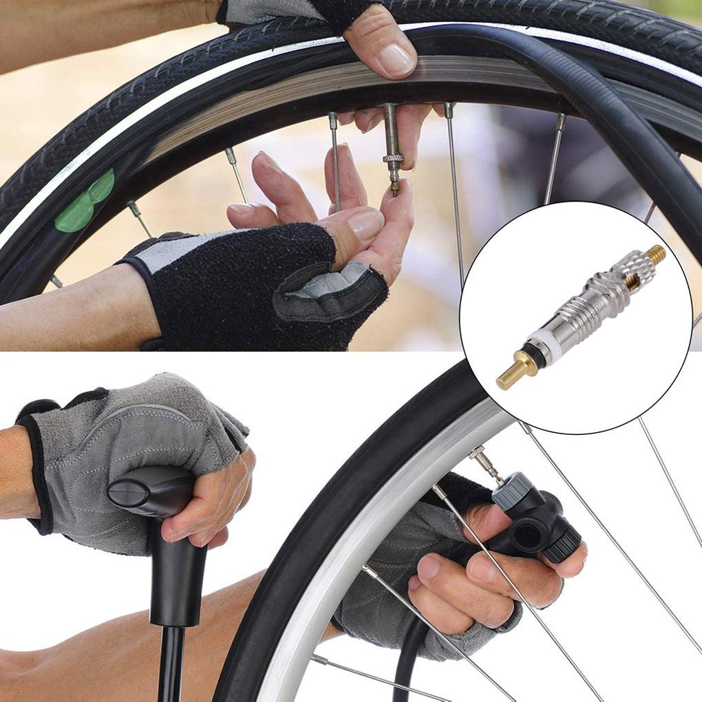 2/6/12PCS Presta שסתום פליז Core כלי MTB כביש אופני צינורות תיקון צמיג שירות חלקי אופניים צמיג אוויר Valve W/אופציונלי כלי