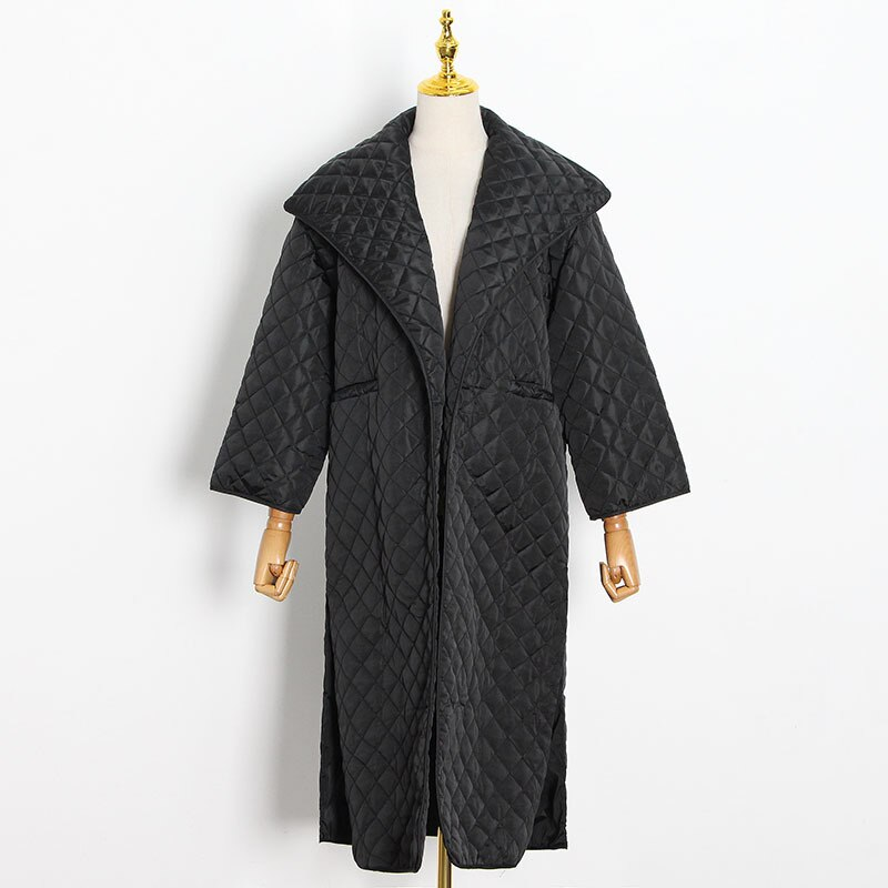 Зимние однотонные толстые длинные парки, женские черные теплые ветрозащитные пальто, повседневные свободные уличные универсальные куртки,...