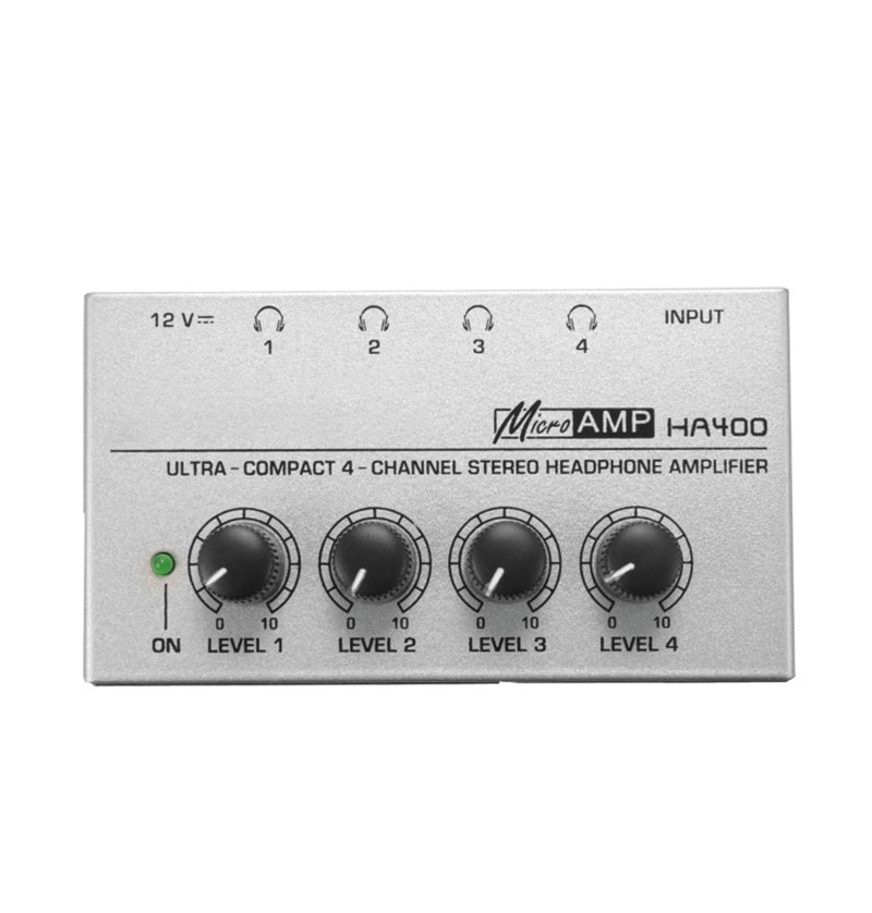 Audio Stereo Amp Amplifier HA400 Ultra-Compact 4 Channels Headphone Amplifier With EU US UK AU Adapter For Music Mixer Recording enlarge