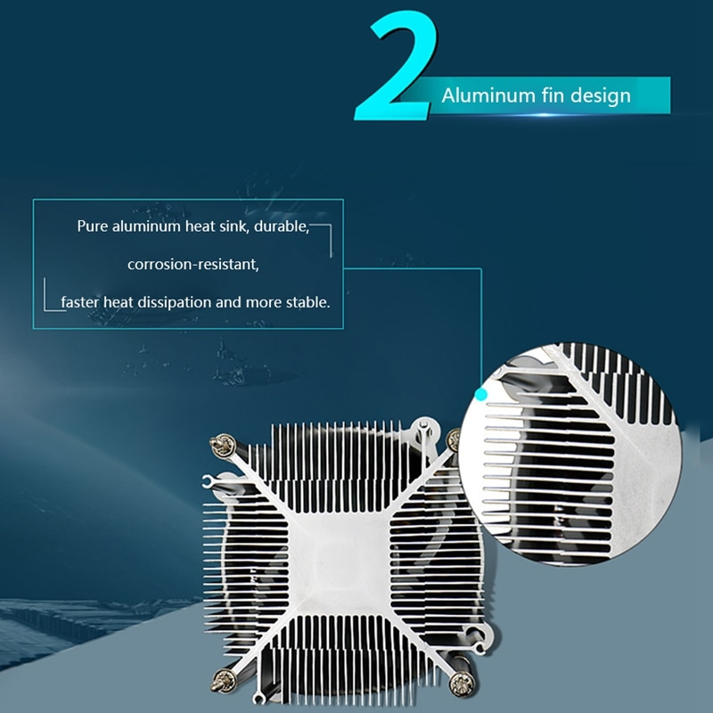 CPU Radiator Mute for I3/I5 9cm Luminous Fan 775 Chassis Fan Computer Radiator enlarge