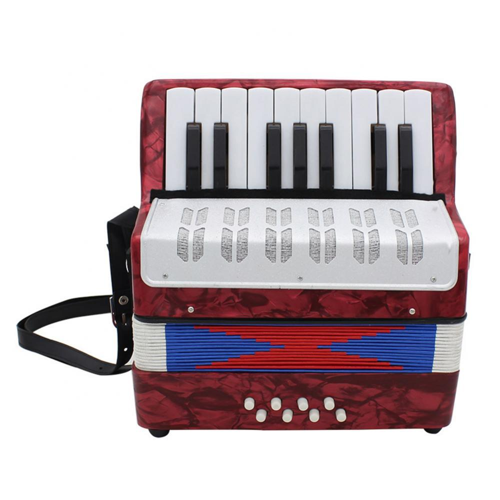 17 Keys 8 Bass Mini Piano Accordion Music Instrument Toy for Children Beginner