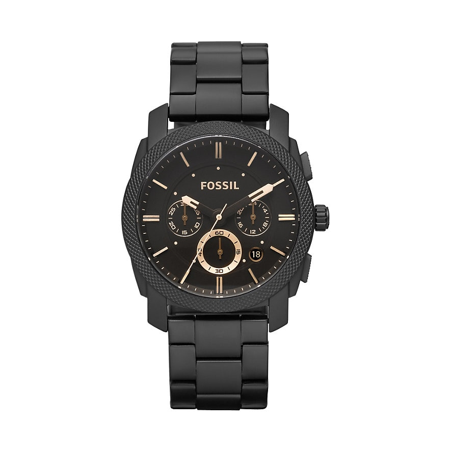 Fossil Men's Nate Analog Display Analog Chronograph Quartz Blue and Black Watch Men's Brand Luxury F
