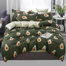 55  bedding set duvet cover set Korean bed sheet + duvet cover + pillowcase avocado fish bed cover bed linen set