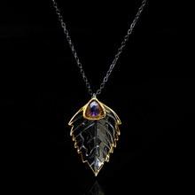 Créatif Vintage feuille forme incrusté cristal Zircon pendentif collier pour les femmes mode exquise fête Cocktail collier bijoux