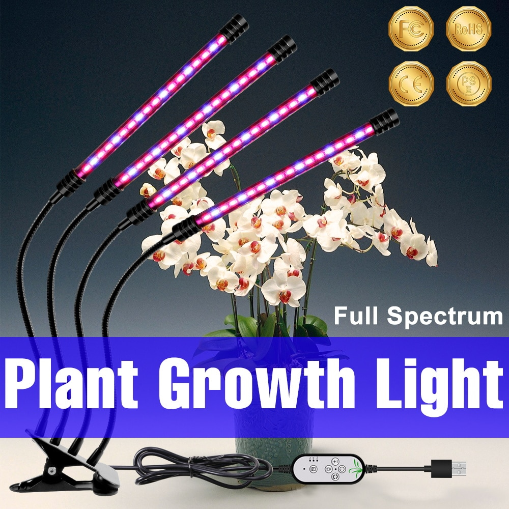 new 2 heads led grow light dual head 18w plant grow lamp led fitolampy with double on off switch for hydroponics grow system 2835 Grow Light LED Full Spectrum Hydroponics Phyto Lamp USB LED Plant Bulb 9W 18W 27W 36W Fitolampy 5V Full Spectrum Lamp Home